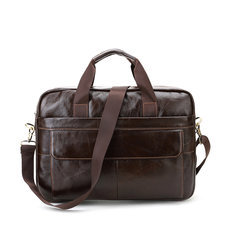 CROSS OX Genuine Leather Mens Briefcase Laptop Bags Men′s Travel Bag Cowhide Men Shoulder Bags Business Man Handbag bolsa HB388F