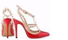 LOSLANDIFEN Free shipping women fashion sexy personality hollow rivets stitching fine with high-heeled shoes Wedding 302-5PA
