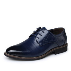 New 2016 Oxford Shoes For Men Dress Shoes Genuine Leather Office Shoes Men Flats Zapatos Hombre Black Mens Oxfords BRM-276