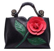 REALER Brand Women Handbag With a Large Flower Summer New Design Female PU Leather Tote Bag Fashion Women Shoulder Bag