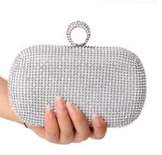 2016 diamond-studded evening bag evening bag with a diamond bag women's rhinestone banquet handbag day clutch female 3 Color
