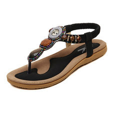 Woman 2016 New Summer Flat Sandals Ladies Summer Bohemia Beach Flip Flops Shoes Women Shoes Sandles Zapatos Mujer Sandalias